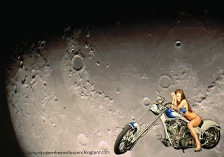 Harley Davidson Babes Wallpapers Bikes Beautiful Babe in Moon Light Wallpaper