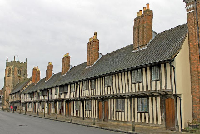 Buy Wall Art of Almshouses in Stratford-upon-Avon