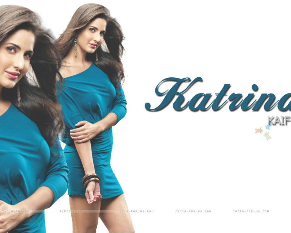 Katrina Kaif Hot Pics in Blue Dress
