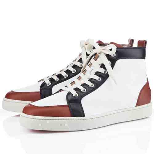 00O00 London Menswear Blog Mika Sirius XM Studios Christian Louboutin Rantus Orlato Cognac sneakers