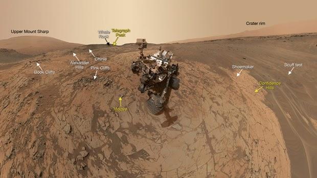 Robot Penjelajah Curiosity Selfie (Lagi) di Permukaan Planet Mars