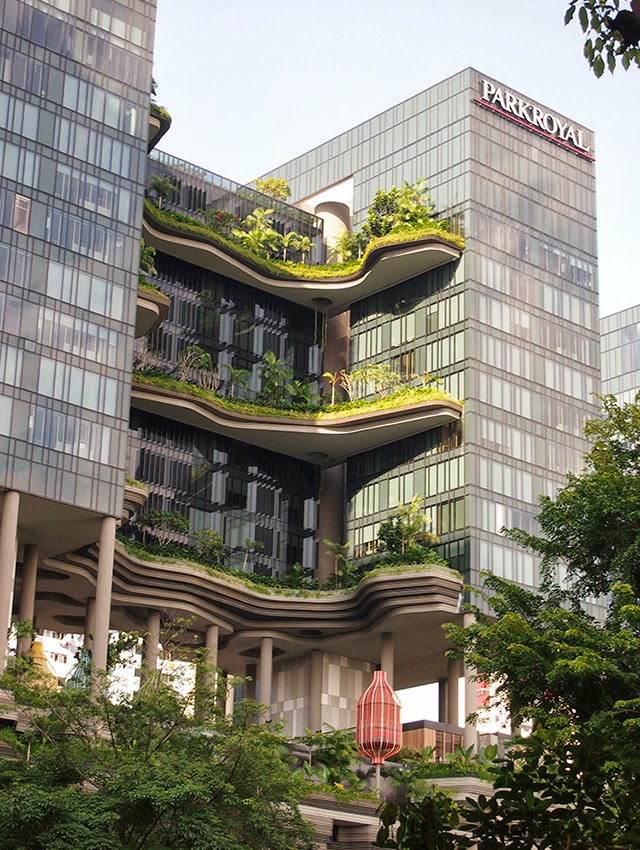A daily dose of architecture parkroyal on pickering for Sustainable hotel design