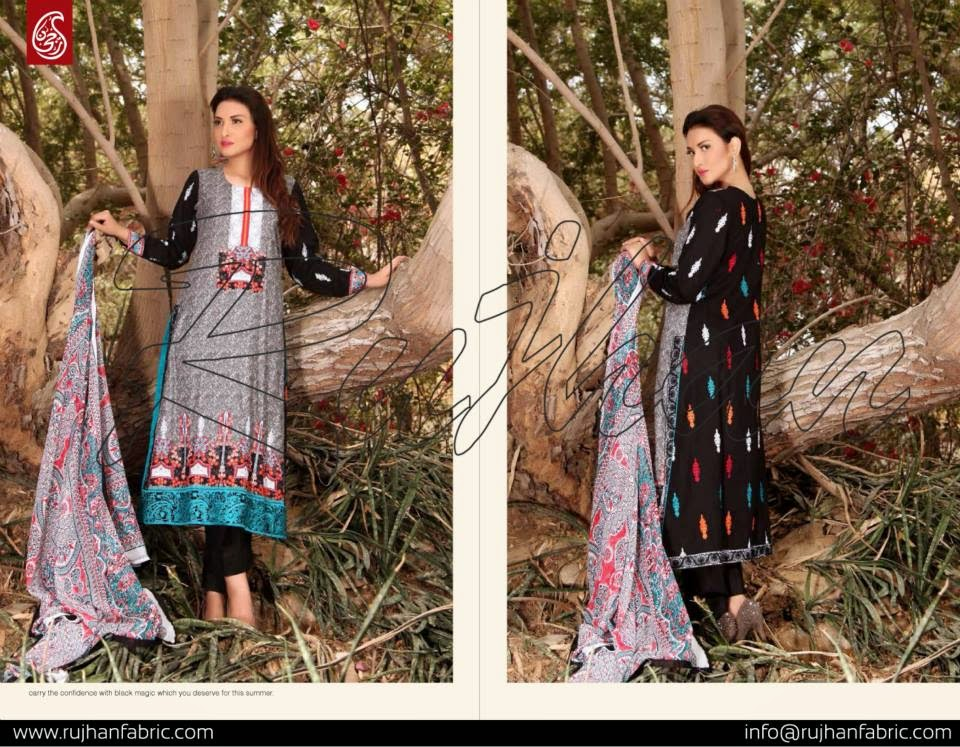 Rujhan cotton lawn collection