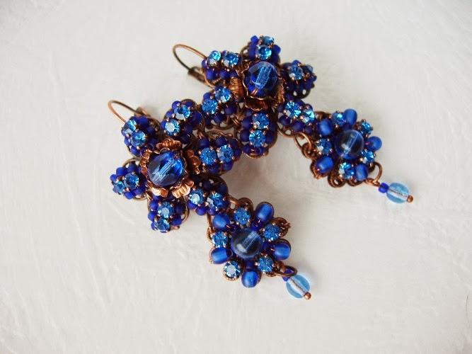 vintage Swarovski mdmButiik designer Estonian jewelry Boucles Bijoux perles ancienne de verre crystal Ohringe schmuck glas perlen Swarovski