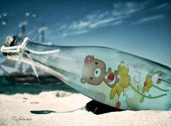bouteille à la mer dessin offert par Magali