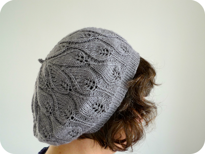 Leaf Beret Knitting Pattern : Never Not Knitting: Rustling Leaves Beret
