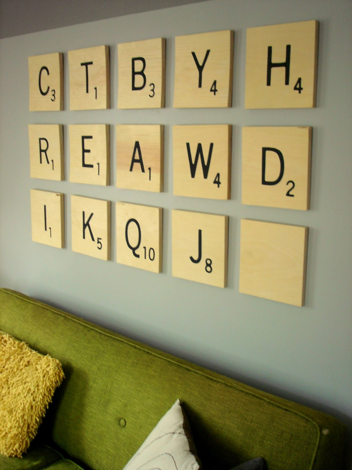 Scrabble Letter Wall Decor Insideways Diy Scrabble Art