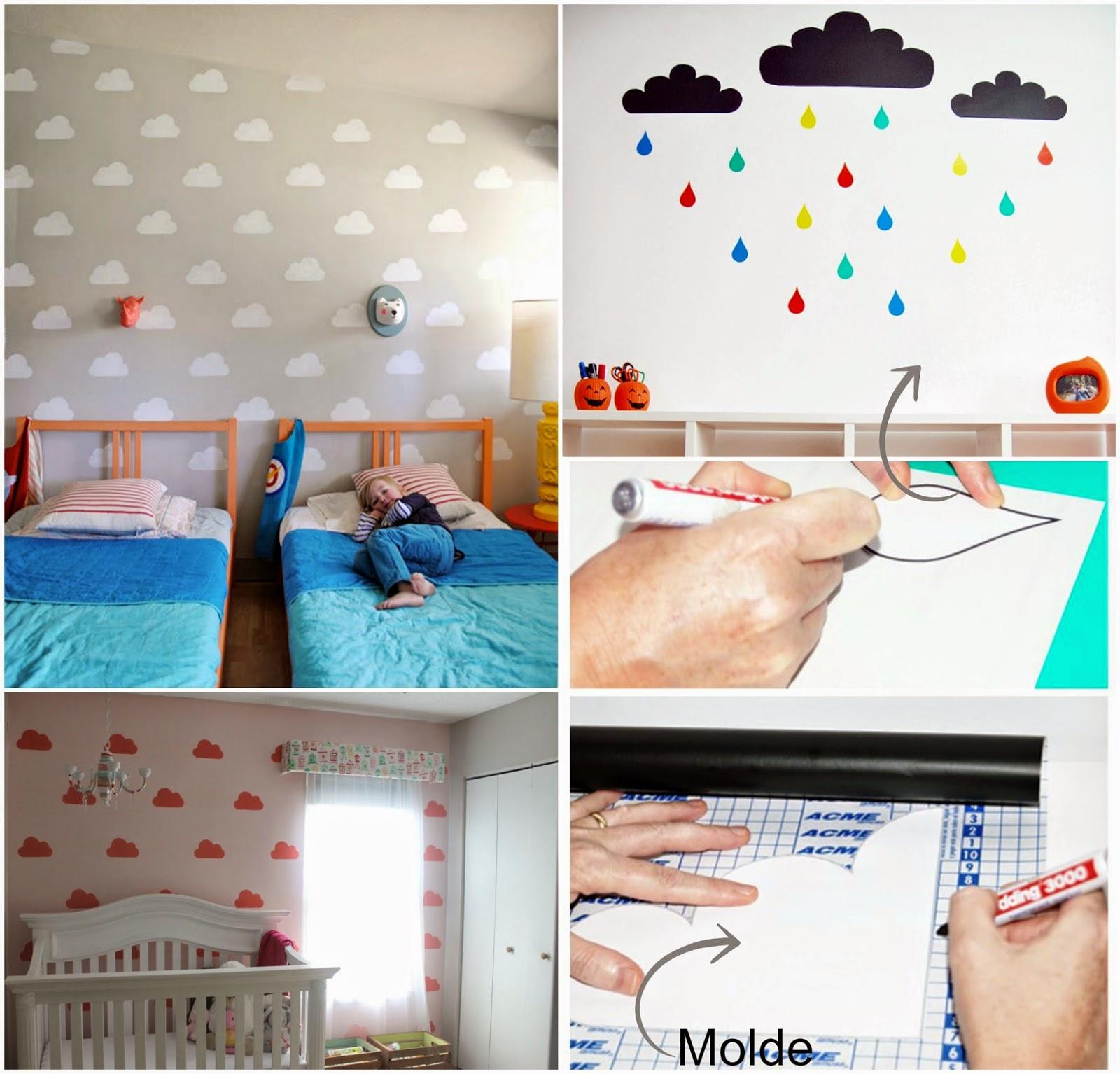 Casa Montada Como Estampar A Parede Das Crianças Usando Papel Contact