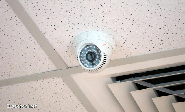 Never lacking in the security aspect, The Nomad Offices had these cameras on nearly every corner
