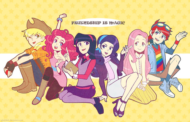 Los personajes de my little pony humanizados