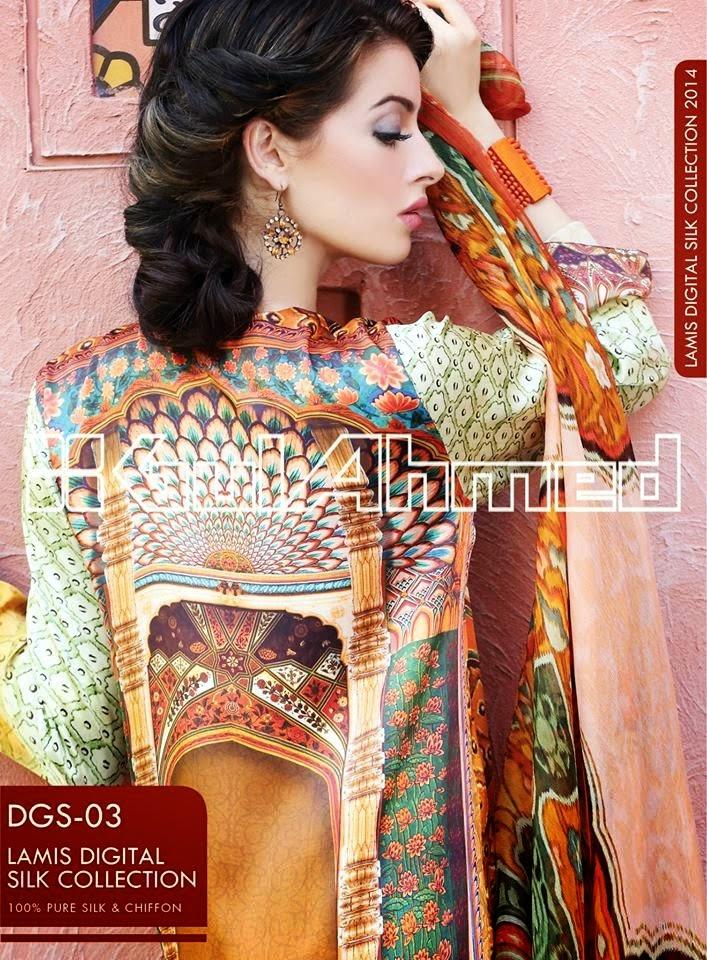 GulAhmedLamisDigitalSilkCollection2014 wwwfashionhuntworldblogspotcom 10 - Gul Ahmed Lamis Digital Silk Collection 2014