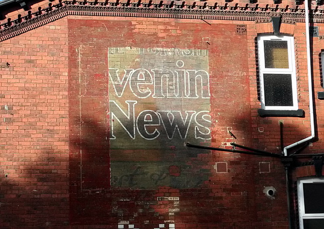 Yorkshire Evening News Sign