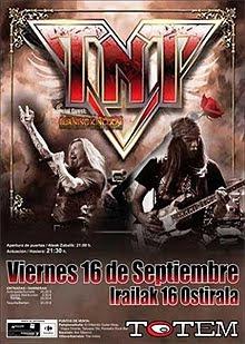 Llega la gira de TNT en España