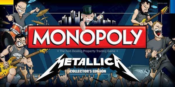 Metallica Launch Monopoly Game