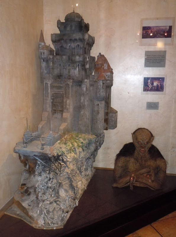 Bram Stoker's Dracula castle miniature model