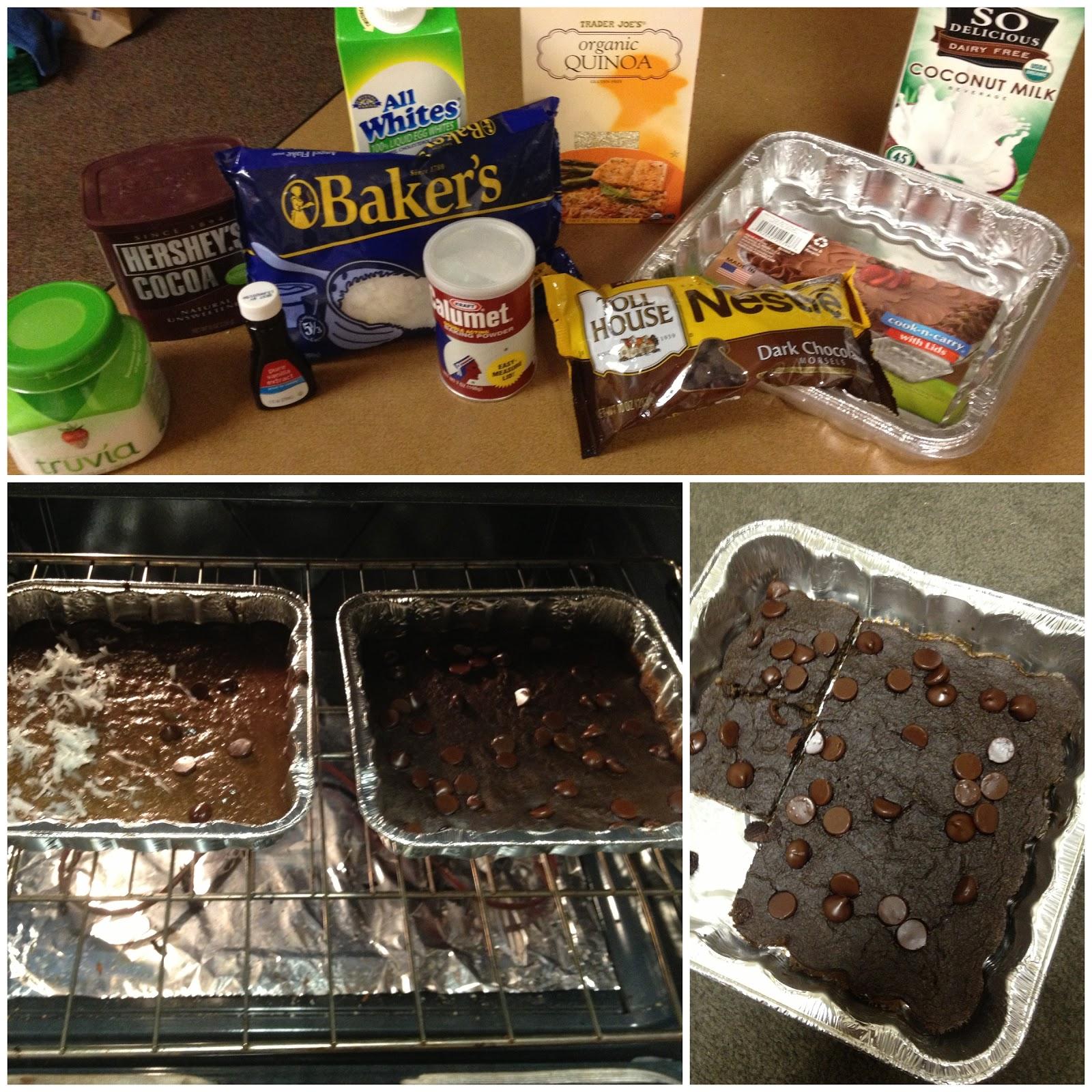 Healthy Chocolate Quinoa Brownies
