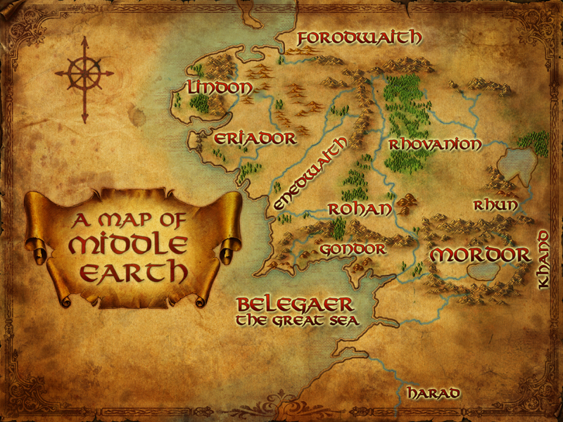 East Middle Earth Map%0A Lord Of The Rings  The War For  u    The One u     RP  PG     OOC   Archive    Online Roleplaying Forum