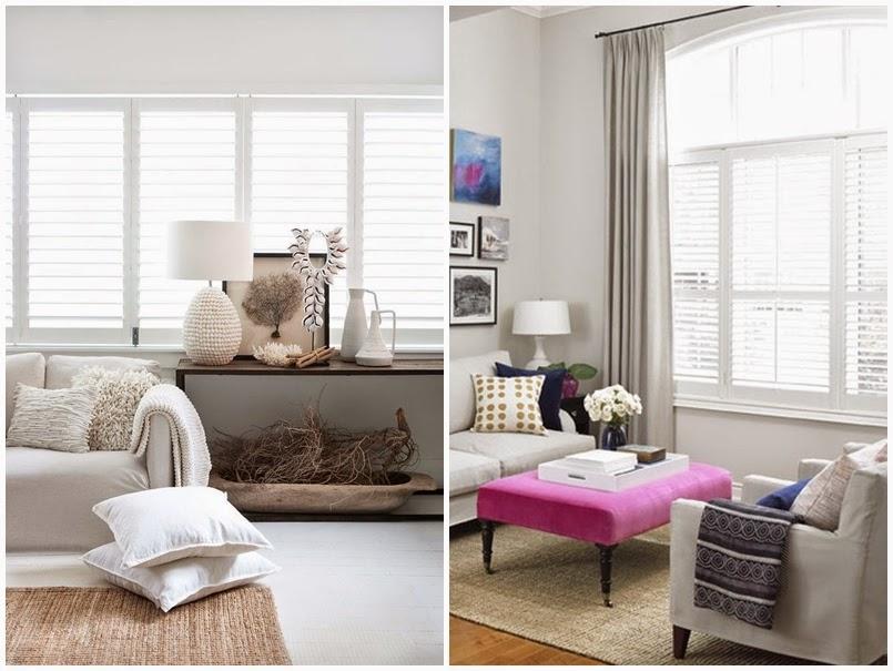 okiennice wewnętrzne białe - inspiracje salon