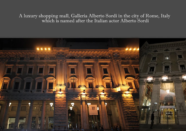 A luxury shopping mall, Galleria Alberto Sordi in the city of Rome, Italy