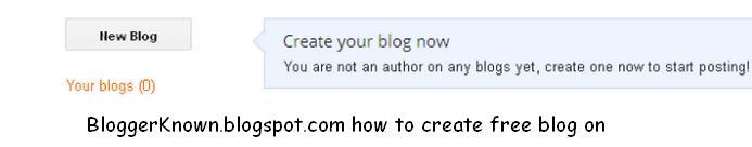new blogger account