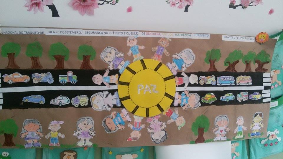 Mostra cultural primavera e tr nsito espa o do educador for Mural sobre o transito