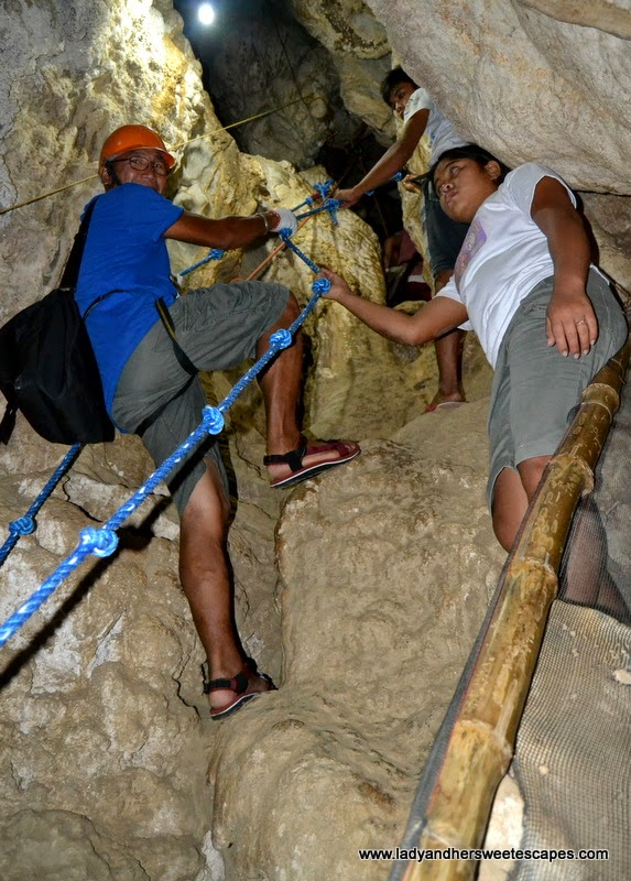 spelunking in Ugong Rock Adventures in Puerto Princesa