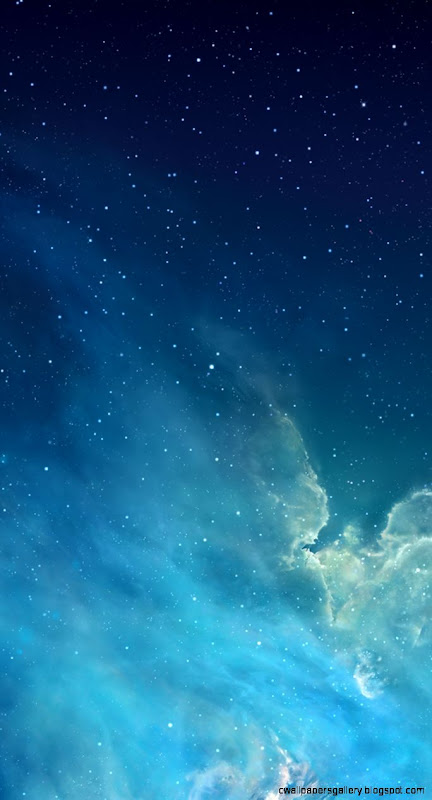 Blue Night Sky iPhone 5 Parallax Wallpaper 744x1392