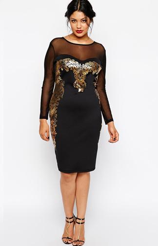 Asos Extreme Black Plus Size Homecoming Bridal Wedding Trend