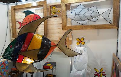 Marcelo Soares; artesão; artista plástico; fibra de vidro; arte com aço; artesanato; feira; arte popular; lazer.