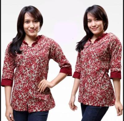 Model Baju Batik Wanita Modern Yang Keren