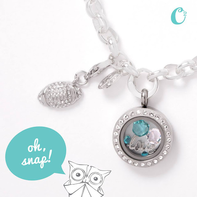 Origami Owl Football Collegiate Collection available at StoriedCharms.com