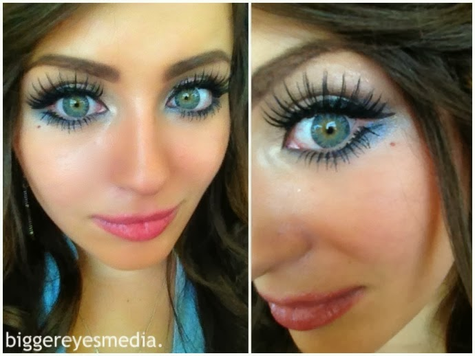 Beuberry Charm 4 Tones Grey colored contacts