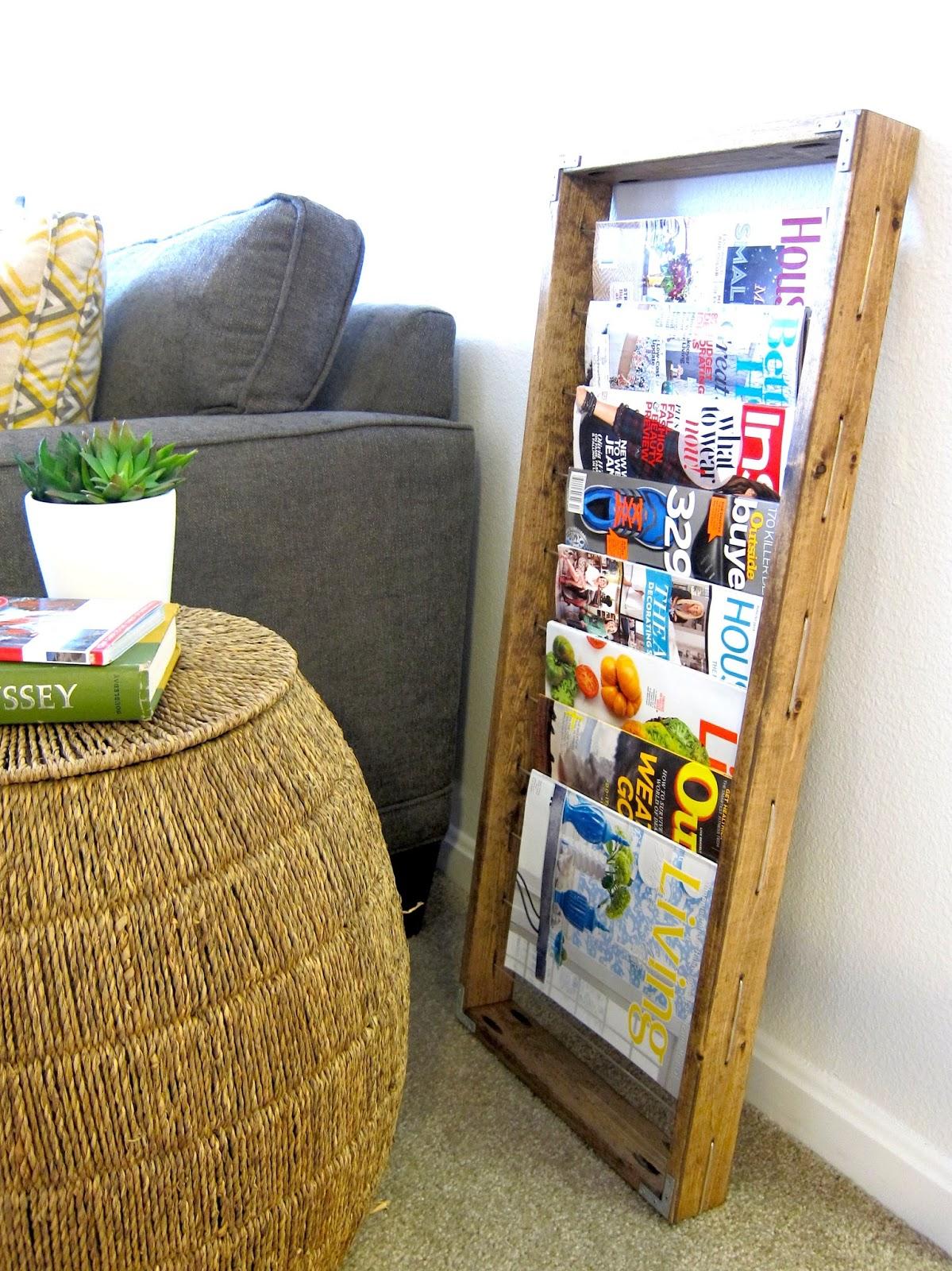 Inspired Whims DIY Magazine Rack