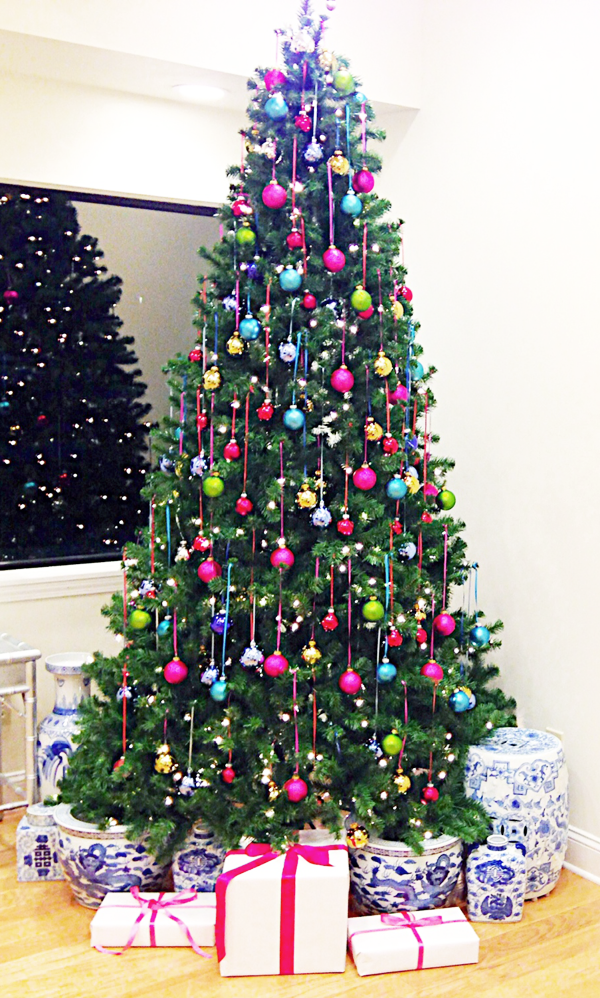 The pink pagoda blue and white monday christmas - Pink and blue christmas tree ...