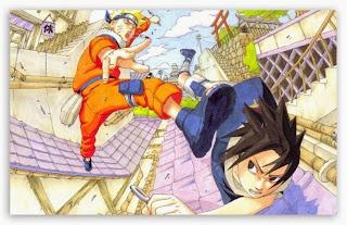 Wallpaper gambar Naruto vs Sasuke keren