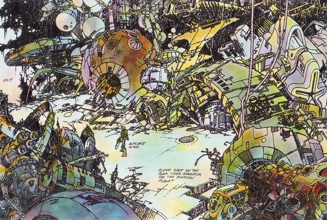 SITE WEB - Transformers (G1): Tout savoir en français: Infos, Images, Vidéos, Marchandises, Doublage, Film (1986), etc. - Page 2 Junk+Lined+Corridor+of+Junkion+Planet