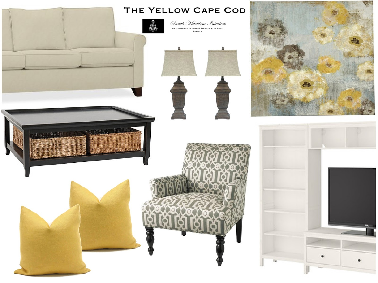 The Yellow Cape Cod: Warm and Sunny Kitchen/Family Room