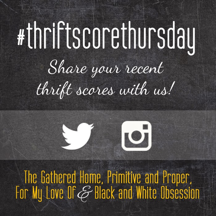 #thriftscorethursday Week 66 | Trisha from Black and White Obsession, Brynne's from The Gathered Home, Cassie from Primitive and Proper, Corinna from For My Love Of, and Guest Poster: Maggie from Maggie Overby Studios