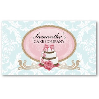 Business card showcase by socialite designs cake business for Cake business card ideas
