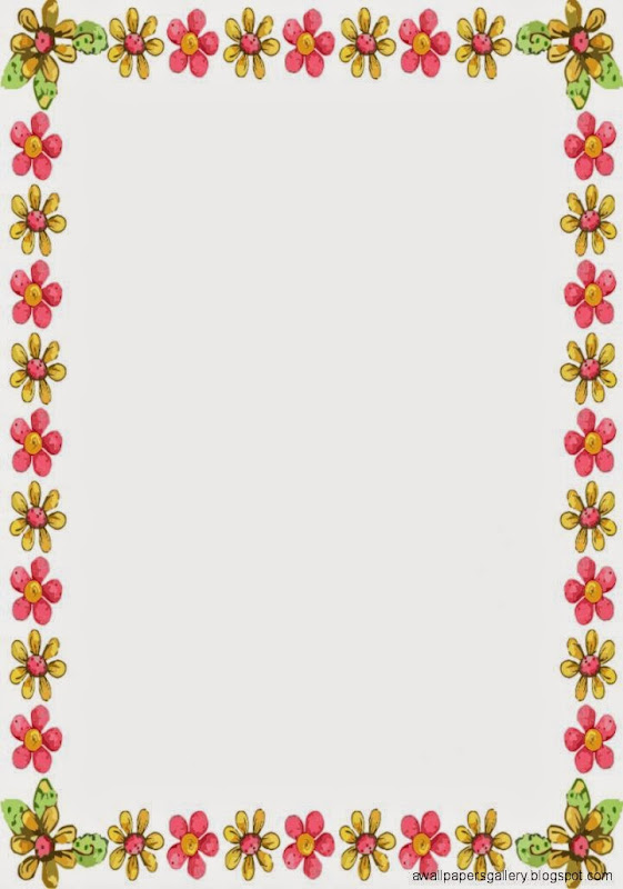 spring borders for word