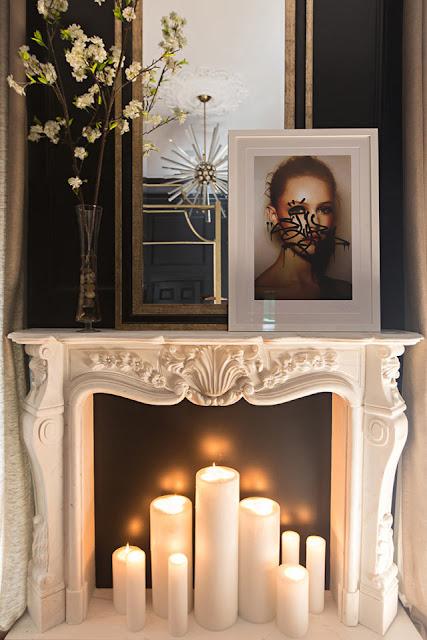 idées décoration bougie cheminée