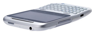 The phone HTC is angled in the middle, which makes it comfortable to hold