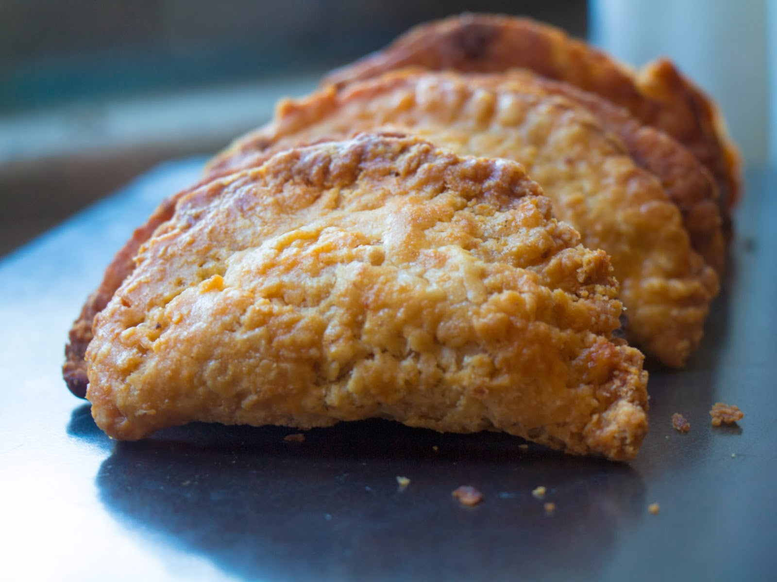 Buffalo Chicken Fried Pies in a Row
