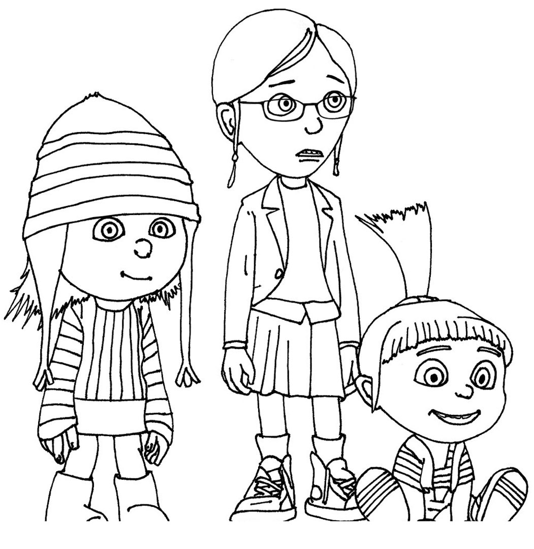 Kids Under 7 Despicable Me Coloring Pages