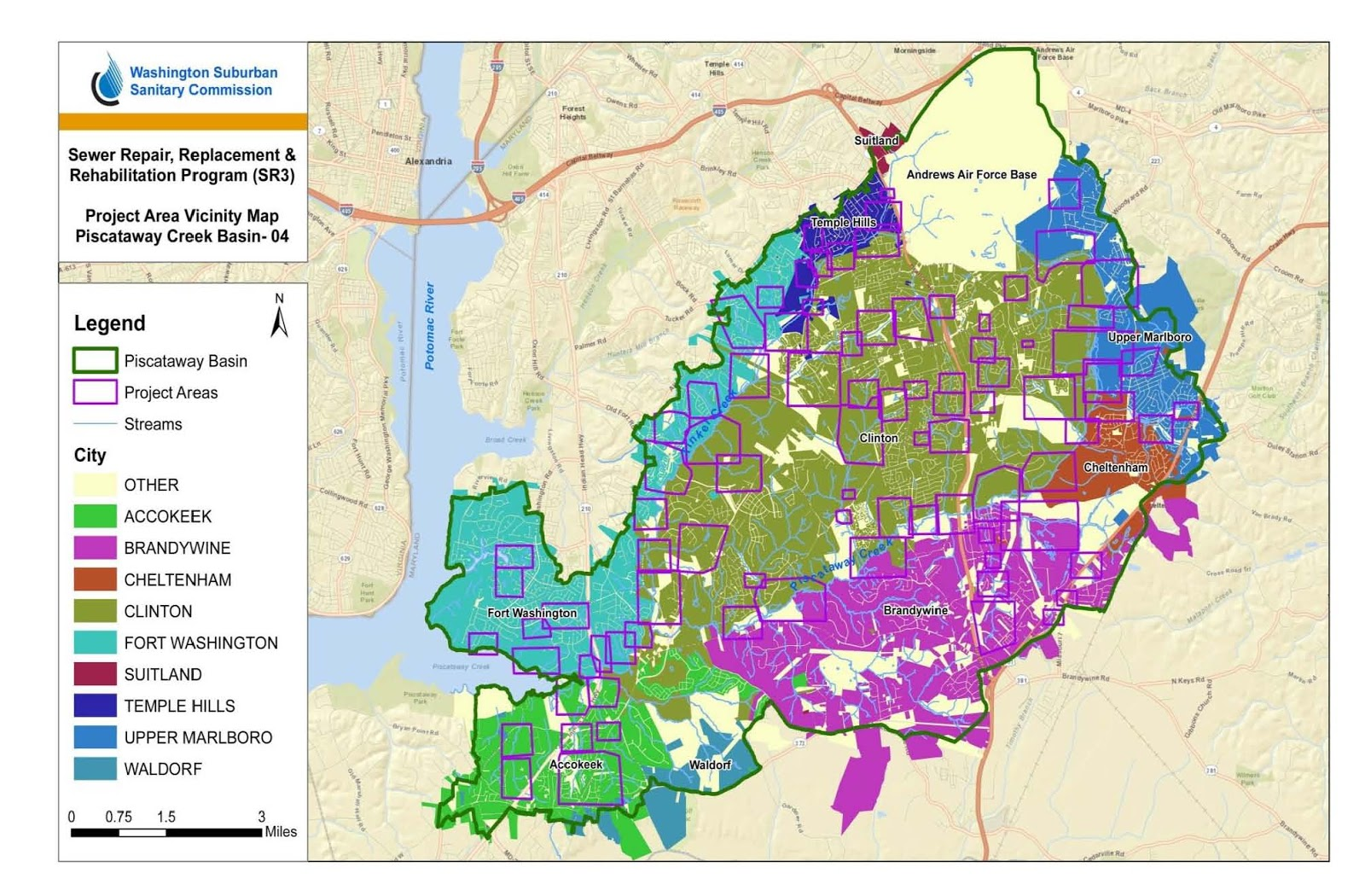 sewer repair replacement and rehabilitation sr3 construction map
