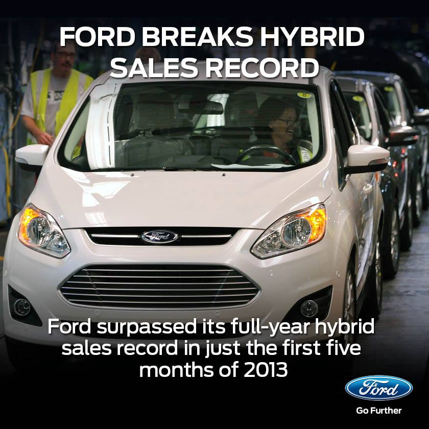 Ford Breaks Hybrid Vehicle Sales Record In 5 Months