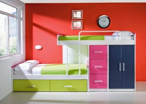 Pin literas en habitaciones de ni os decoraci n interiores for Literas infantiles para ninas