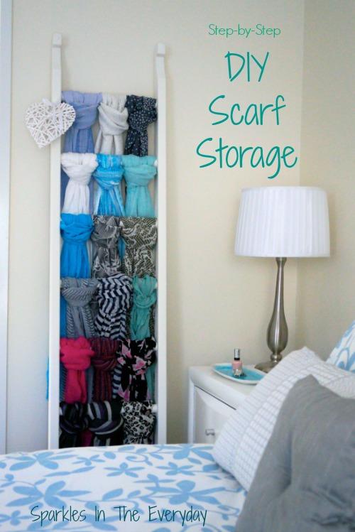 DIY Scarf Storageu2026Step by Step! & DIY Scarf Storage...Step by Step! - Sparkles in the Everyday!