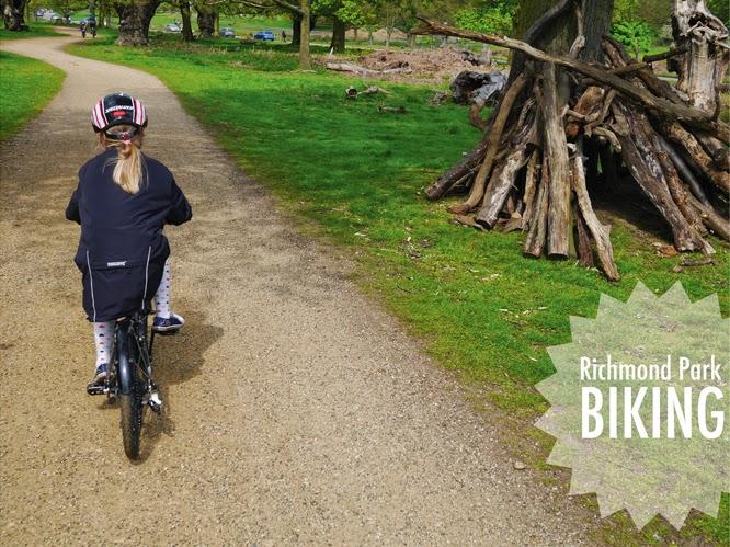 Biking in Richmond Park, London by Alexis at www.somethingimade.co.uk