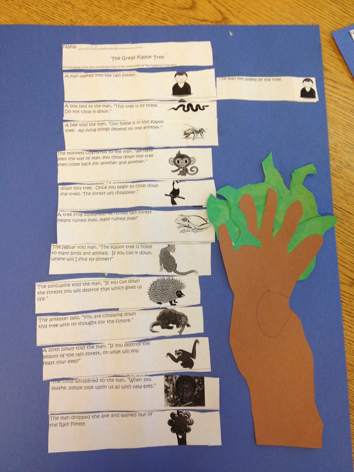 The Great Kapok Tree Freebie on Perspective Worksheets For Elementary
